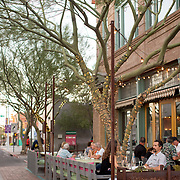 Tucson, AZ -- 09/28/2017<br /> <br /> Patio diners enjoy the cool temps at Downtown Kitchen + Cocktails in downtown Tucson. The restaurant is owned by James Beard winning chef Janos Wilder.<br /> <br /> <br /> Photography by Jill Richards