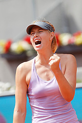 10.05.2014, Caja Magica, Madrid, ESP, WTA Tour, Madrid Open, im Bild Russian tennis player Maria Sharapova celebration // Russian tennis player Maria Sharapova celebration during the Madrid Open of WTA Tour at the Caja Magica in Madrid, Spain on 2014/05/10. EXPA Pictures © 2014, PhotoCredit: EXPA/ Alterphotos/ Victor Blanco<br /> <br /> *****ATTENTION - OUT of ESP, SUI*****