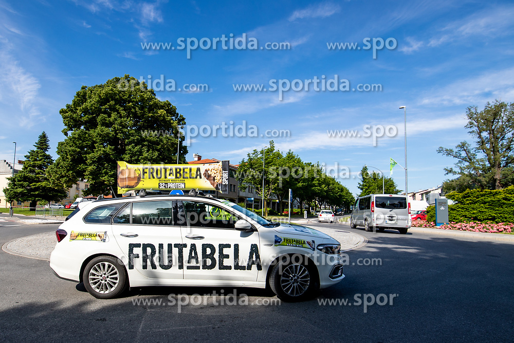 Frutabela car during the 4th Stage of 27th Tour of Slovenia 2021 cycling race between Ajdovscina and Nova Gorica (164,1 km), on June 12, 2021 in Slovenia. Photo by Matic Klansek Velej / Sportida