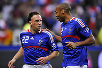 Fotball<br /> Frankrike v Colombia<br /> Foto: Dppi/Digitalsport<br /> NORWAY ONLY<br /> <br /> FOOTBALL - FRIENDLY GAME 2007/2008 - FRANCE v COLOMBIA - 03/06/2008 - JOY FRANCK RIBERY / THIERRY HENRY (FRA) AFTER THE RIBERY'S GOAL