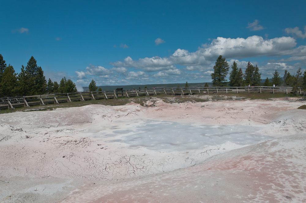 Fountain Paint Pots at Lower Geyser Basin in Yellowstone National Park, Wyoming.  Photo by William Byrne Drumm.