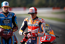 November 17, 2019, Cheste, VALENCIA, SPAIN: Marc Marquez, rider of Repsol Honda Team from Spain, looks on during the World Champion photo during the Valencia Grand Prix of MotoGP World Championship celebrated at Circuit Ricardo Tormo on November 16, 2019, in Cheste, Spain. (Credit Image: © AFP7 via ZUMA Wire)
