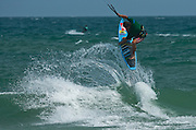 Outerbanks, NC - Jason Slezak kiteboarding at the Triple-S 2011