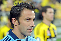 Sydney FC's Alessandro del Piero takes the field against the Phoenix in the A-League foootball match at Westpac Stadium, Wellington, New Zealand, Saturday, October 06, 2012.  Credit:SNPA / Ross Setford