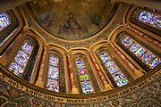 Ornate mosaic in church apse by Gertrude Martin 1881-1952, Wilton Italianate church, Wiltshire, England, UK