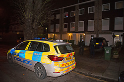 © Licensed to London News Pictures 19/01/2021.        Greenwich, UK. A murder investigation has been launched by police in Greenwich, South East London after a 74 year old man was found with a knife injury inside a residential property. He was pronounced dead at the scene. Photo credit:Grant Falvey/LNP