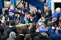 Leeds United's Liam Cooper arrives at the ground<br /> <br /> Photographer Chris Vaughan/CameraSport<br /> <br /> The EFL Sky Bet Championship - Leeds United v Sheffield Wednesday - Saturday 11th January 2020 - Elland Road - Leeds<br /> <br /> World Copyright © 2020 CameraSport. All rights reserved. 43 Linden Ave. Countesthorpe. Leicester. England. LE8 5PG - Tel: +44 (0) 116 277 4147 - admin@camerasport.com - www.camerasport.com