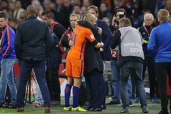 (l-r) coach Dick Advocaat of Holland, Arjen Robben of Holland during the FIFA World Cup 2018 qualifying match between The Netherlands and Sweden at the Amsterdam Arena on October 10, 2017 in Amsterdam, The Netherlands
