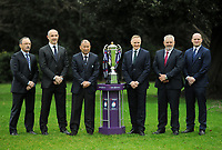 Rugby Union - 2018 Natwest Six Nations Launch Press Conference - Syon Park Hilton<br /> <br /> The Coaches - l-r. Jacques Brunel of France, Conor O'Shea of Italy, Eddie Jones of England, Joe Schmidt of Ireland, Warren Gatland of Wales and Gregor Townsend of Scotland.<br /> <br /> COLORSPORT/ANDREW COWIE