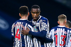 Rekeem Harper of West Bromwich Albion celebrates with teammates after scoring a goal to make it 1-0 - Mandatory by-line: Robbie Stephenson/JMP - 16/09/2020 - FOOTBALL - The Hawthorns - West Bromwich, England - West Bromwich Albion v Harrogate Town - Carabao Cup