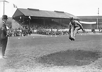H887<br /> Aonach Tailteann Athletics - Croke Park. 1928. A.W. Winter winner of the triple jump (Part of the Independent Newspapers Ireland/NLI Collection)