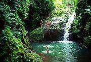 Manawili Falls, Oahu, Hawaii<br />