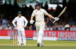 England's Jonny Bairstow celebrates his 50 during day four of the First Investec Test match at Lord's, London.