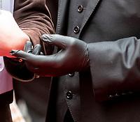 Richard E Grant wears latex gloves at The Prince's Trust Awards, The London Palladium 11 Mar 2020 Photo by Brian Jordan