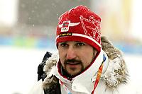 OL 2006 Langrenn 15 km menn 17.02.06 <br />Pragelato Plan<br />Foto: Sigbjørn Hofsmo, Digitalsport<br /><br />Kronprins Håkon Magnus var tilstede på tribunen