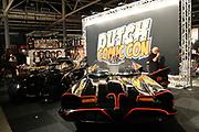 Eerste editie van de Dutch Comic Con in de jaarbeurs, Utrecht.De Comic Con in een evenement wat gericht is op comics, films, cartoons, games .<br /> <br /> Op de foto: 1966 Batmobiel