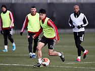 Hassan Ayari of Sheffield Utd  during a training session at the Steelphalt Academy, Sheffield. Picture date: 5th March 2020. Picture credit should read: Simon Bellis/Sportimage