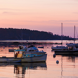 Lobster boat in the harbor at Kittery Point, Maine.