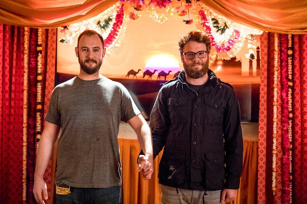 Executive Producer Seth Rogen and Executive Producer Evan Goldberg - Preacher _ Season 2, Episode 2 - Photo Credit: Skip Bolen/AMC/Sony Pictures Television