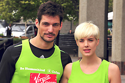 © under license to London News Pictures. 15/04/2010 David Gandy and Agyness Deyn attends photocall ahead of this Sundays 2011 London Virgin Marathon by Tower Bridge London. Photo credit should read ALAN ROXBOROUGH /LNP