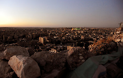 (170729) -- ALEPPO (SYRIA), July 29, 2017 (Xinhua) -- Photo taken on July 28, 2017 shows a general view of the shattered eastern part of Aleppo in northern Syria. The rebels had stayed in the east of Aleppo for five years before they evacuated in December of 2016. Seven months after the Syrian army took full control over the city, life starts to beat again through devastation and destruction in the area. (Xinhua/Ammar Safarjalani) (zjy) (Photo by Xinhua/Sipa USA)