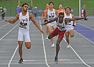 Yusuf Bizimana of Texas competes during the Big 12 Outdoor Track & Field Championship at R.V. Christian Track & Field Complex in Manhattan, Kansas.