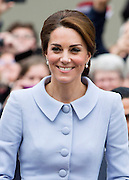 THE HAGUE- NETHERLANDS- 11th Oct 2016: <br /> <br /> The Duchess of Cambridge undertakes her first official overseas solo engagements with a visit to Holland. After a call on HM King Willem at the Royal Palace Kate went to The Hague to visit the Maritshuis Art  Museum .<br /> ©Exclusivepix Media