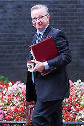 London, September 5th 2017. Secretary of State for Environment, Food and Rural Affairs Michael Gove attends the first UK cabinet meeting at Downing Street after the summer recess. ©Paul Davey