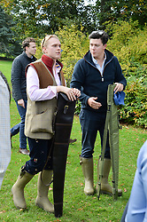 Henry Major and Alasdair Lord at Young Guns raising money for the fight against breast cancer trough Cancer Research UK held at EJ Churchill Shooting School followed by lunch at West Wycombe Park, England. 23 September 2017.