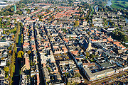 Nederland, Zuid-Holland, Leerdam, 28-10-2014; stadsgezicht met Grote Kerk.<br /> luchtfoto (toeslag op standard tarieven);<br /> aerial photo (additional fee required);<br /> copyright foto/photo Siebe Swart
