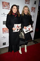 Karen Woodward, Sara Dallin  at the Message in a Bottle press night , Peacock Theatre, London