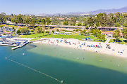 Aerial View of Lake Mission Viejo Beach and Play del Norte Facility
