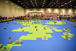 July 29, 2017 - London, United Kingdom - View of Bricklive LEGO exhibition at the ExCel, London on July 29, 2017. Thousands of LEGO bricks have been put to treat fans to creations from the world's best builders. (Credit Image: © Alberto Pezzali/NurPhoto via ZUMA Press)