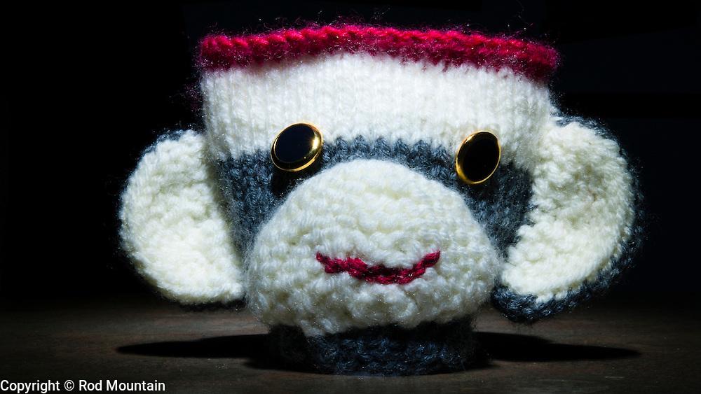 Hand knit creation.