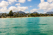 Kailua Beach & the Koolau Mountain Range, Oahu, Hawaii