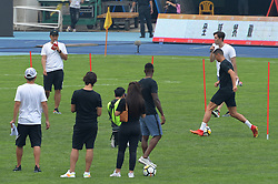 July 24, 2018 - Beijin, Beijin, China - Beijing,CHINA-Portuguese professional footballer Cristiano Ronaldo interacts with Chinese young football players at Beijing Olympic Sports Center in Beijing, China. (Credit Image: © SIPA Asia via ZUMA Wire)