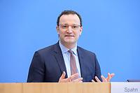 12 FEB 2021, BERLIN/GERMANY:<br /> Jens Spahn, CDU, Bundesgesundheitsminister, Pressekonferenz zur Corona-Lage im Lockdown, Bundespressekonferenz<br /> IMAGE: 20210212-01-004<br /> KEYWORDS: Corvid-19