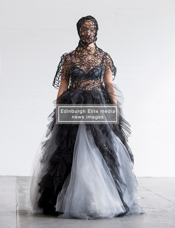 Pictured: design by Inga Keralerova.<br /> <br /> <br /> Students studying fashion design at Glasgow School of Art previewed their work before their annual degree show.<br /> <br /> © Dave Johnston / EEm