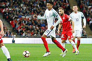 England Midfielder Jesse Lingard looks for options to pass during the FIFA World Cup Qualifier match between England and Malta at Wembley Stadium, London, England on 8 October 2016. Photo by Andy Walter.