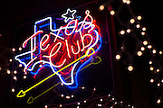 Neon signs light up the interior of Billy Bob's Texas in Fort Worth, Texas on December 13, 2012.  (Stan Olszewski/The Dallas Morning News)