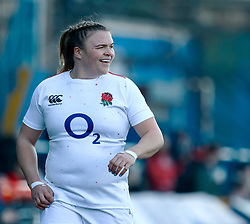 Sarah Bern of England<br /> <br /> Photographer Simon King/Replay Images<br /> <br /> Six Nations Round 3 - Wales Women v England Women - Sunday 24th February 2019 - Cardiff Arms Park - Cardiff<br /> <br /> World Copyright © Replay Images . All rights reserved. info@replayimages.co.uk - http://replayimages.co.uk