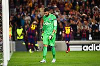 Deception Salvatore SIRIGU / Joie Barcelone - 21.04.2015 - Barcelone / Paris Saint Germain - 1/4Finale Retour Champions League<br />Photo : Dave Winter / Icon Sport