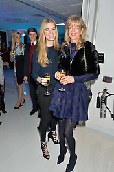 Left to right, ELLA MAY SANGSTER and her mother FIONA SANGSTER at the London premier of Being AP held at Altitude 360, Millbank Tower, 30 Millbank, London on 23rd November 2015.