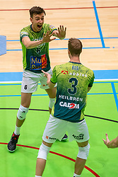 Markus Held of Orion, David Bes of Orion in action during the league match between Active Living Orion vs. Amysoft Lycurgus on March 20, 2021 in Doetinchem.