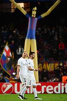 Deception Zlatan IBRAHIMOVIC / Javier PASTORE - 10.12.2014 - Barcelone / Paris Saint Germain - Champions League<br />Photo : Dave Winter / Icon Sport