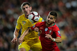 March 22, 2019 - Na - Lisboa, 03/22/2019 - The Portuguese Football Team received this afternoon their Ukrainian counterpart at the Estádio da Luz in Lisbon, in the Group B match, in the qualifying round for the 2020 European Championship. Andre Silva; Sergii Kryvtsov  (Credit Image: © Atlantico Press via ZUMA Wire)