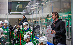 Head coach of HK SZ Olimpija Ljubljana - Gregor Poloncic during the match of Alps Hockey League 2020/21 between HK SZ Olimpija Ljubljana vs. EC Bregenzerwald, on 09.01.2021 in Hala Tivoli in Ljubljana, Slovenia. Photo by Urban Meglič / Sportida
