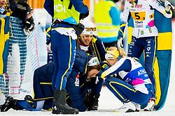 February 3, 2018 - Goms, SWITZERLAND - 180203 Johanna HagstrÅ¡m and Frida Karlsson of Sweden after the women's 4x3,3 km relay during the FIS Nordic Junior World Ski Championships on February 3, 2018 in Obergoms..Photo: Vegard Wivestad GrÂ¿tt / BILDBYRN / kod VG / 170098 (Credit Image: © Vegard Wivestad Gr¯Tt/Bildbyran via ZUMA Press)