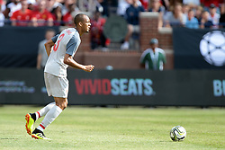 July 28, 2018 - Ann Arbor, Michigan, United States - Fabinho (3) of Liverpool looks to pass during an International Champions Cup match between Manchester United and Liverpool at Michigan Stadium in Ann Arbor, Michigan USA, on Wednesday, July 28,  2018. (Credit Image: © Amy Lemus/NurPhoto via ZUMA Press)
