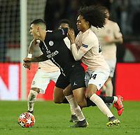 Football - 2018 / 2019 UEFA Champions League - Round of Sixteen, Second Leg: Paris Saint-Germain (2) vs. Manchester United (0)<br /> <br /> Tahith Chong of Manchester United, at Parc des Princes, Paris.<br /> <br /> COLORSPORT/IAN MACNICOL